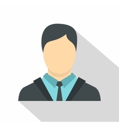 Manager icon flat style vector