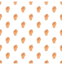 Clenched fist pattern cartoon style vector