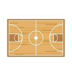 Silhouette colorful with basketball field vector