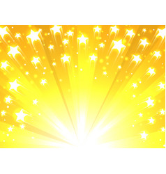 yellow background with stars vector image