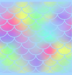 fantastic fish skin seamless pattern vector image