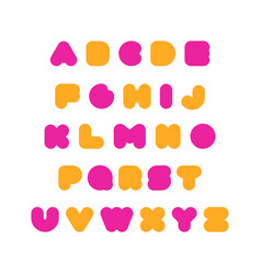 kids multi-colored rounded bold english font vector image