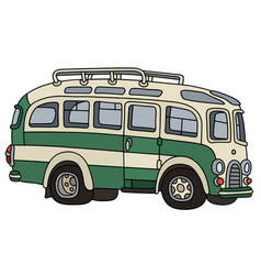 Funny old bus vector