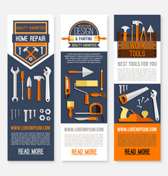 Home repair and painting work tools banners vector