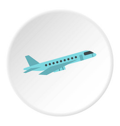 Passenger airliner icon circle vector