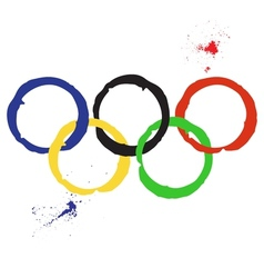 Of olympic rings vector