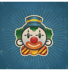 Retro birthday clown vector