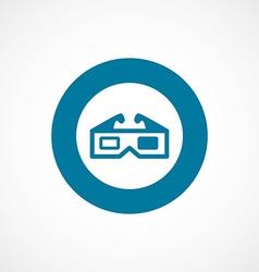 3d movie bold blue border circle icon vector