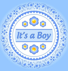 Its a boy ornament vector