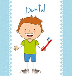 Children dental care vector