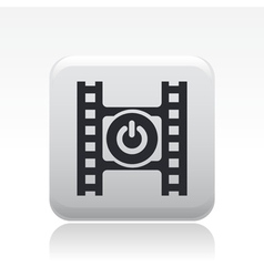 Video switch icon vector