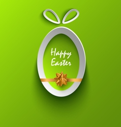 Easter card with abstract cut out egg template vector