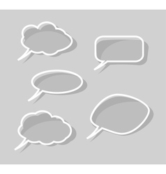 Speech bubbles isolated on gray background vector
