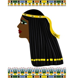 Ancient Egypt portrait of woman vector image vector image