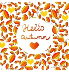 autumn seamless pattern with hand written vector image vector image