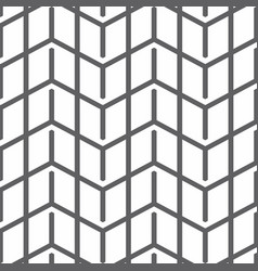 black zigzag lines in geometric seamless pattern vector image