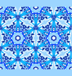 Blue flower fractal pattern vector