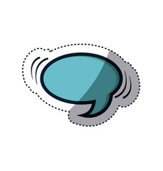 Blue sticker oval shape dialog box vector