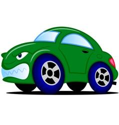 Cartoon green car vector image