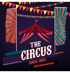 Circus posters vintage vector