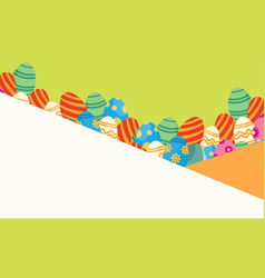 easter greeting card style vector image