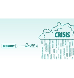 Economy and crisis vector