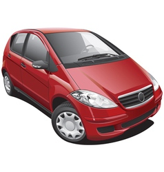 European modern minivan vector