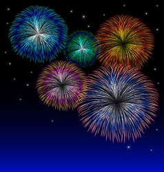 Fireworks background with star vector image vector image
