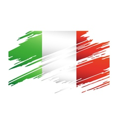 Flag italy in the form traces brush vector
