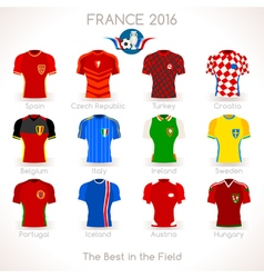 France euro 2016 jersey icons vector