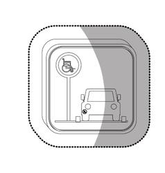 Handicap road sign vector image