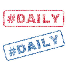 Hashtag daily textile stamps vector