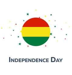independence day of bolivia patriotic banner vector image