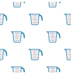 Measuring cup icon in flat style isolated on white vector