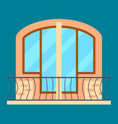 modern residential window with balcony vector image vector image