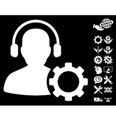 Operator configuration gear icon with tools vector