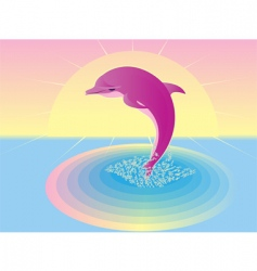 pink dolphin vector image vector image