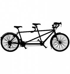 tandem bicycle vector image vector image