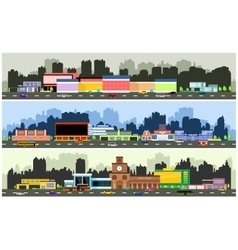 urban streets vector image vector image