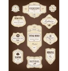 Vintage tree label vector image