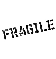 Fragile rubber stamp vector