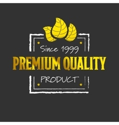 Golden premium quality logotype vector