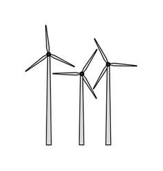 Wind turbine icon image vector