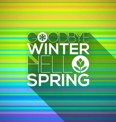 Spring greeting design vector image