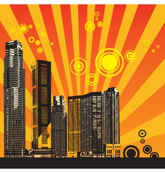 Urban city illustration vector