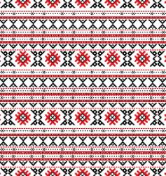 Traditional russian embroidery design vector