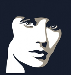 Woman's eyes vector