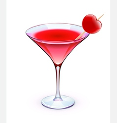 Red cocktail vector
