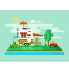 Vacation trailer vector
