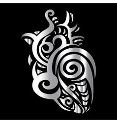 Heart Tribal pattern vector image